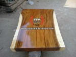 Top Table Kayu Solid Natural