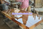 Meja Kayu Trembesi Finishing Gloss PU